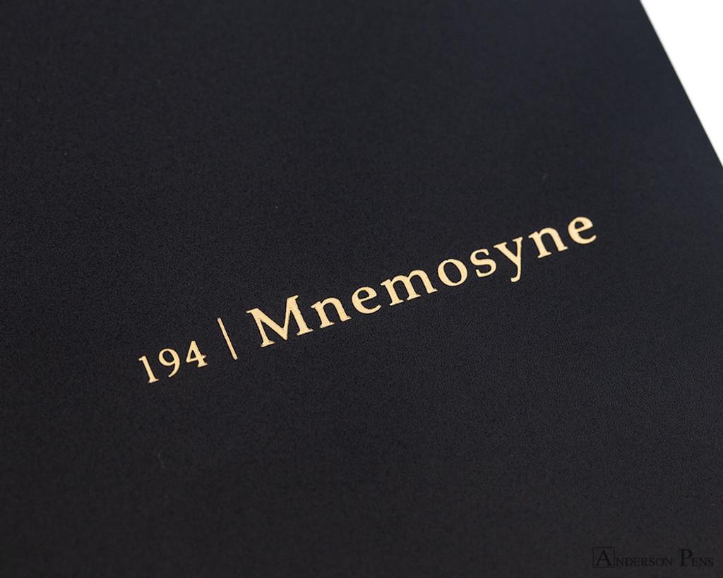 Maruman Mnemosyne N194A Notebook - B5, Lined - Black logo