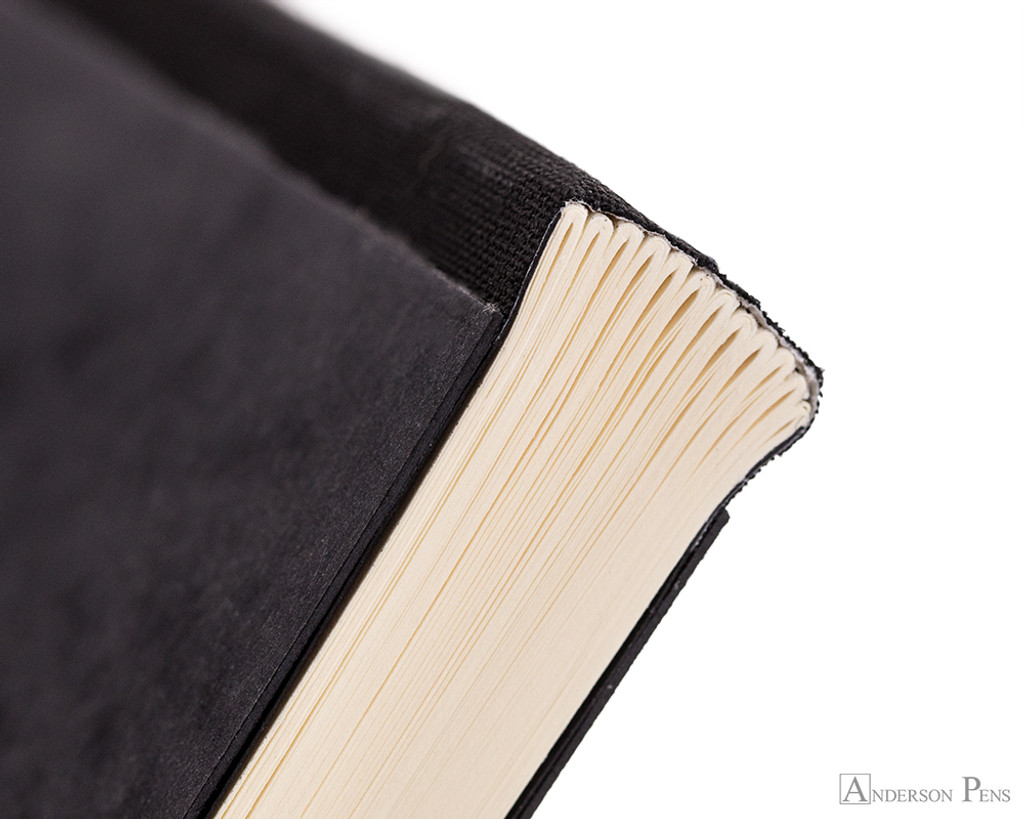 Clairefontaine Flying Spirit Clothbound Notebook - A5, Lined - Black binding closeup