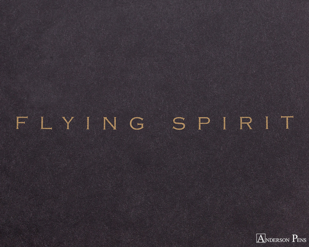 Clairefontaine Flying Spirit Clothbound Notebook - A5, Lined - Black logo