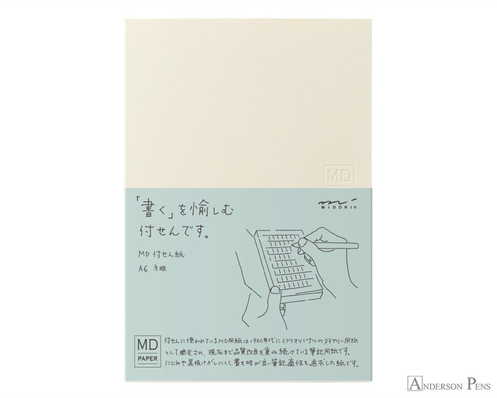 Midori MD Sticky Memo Pad A6 - Graph