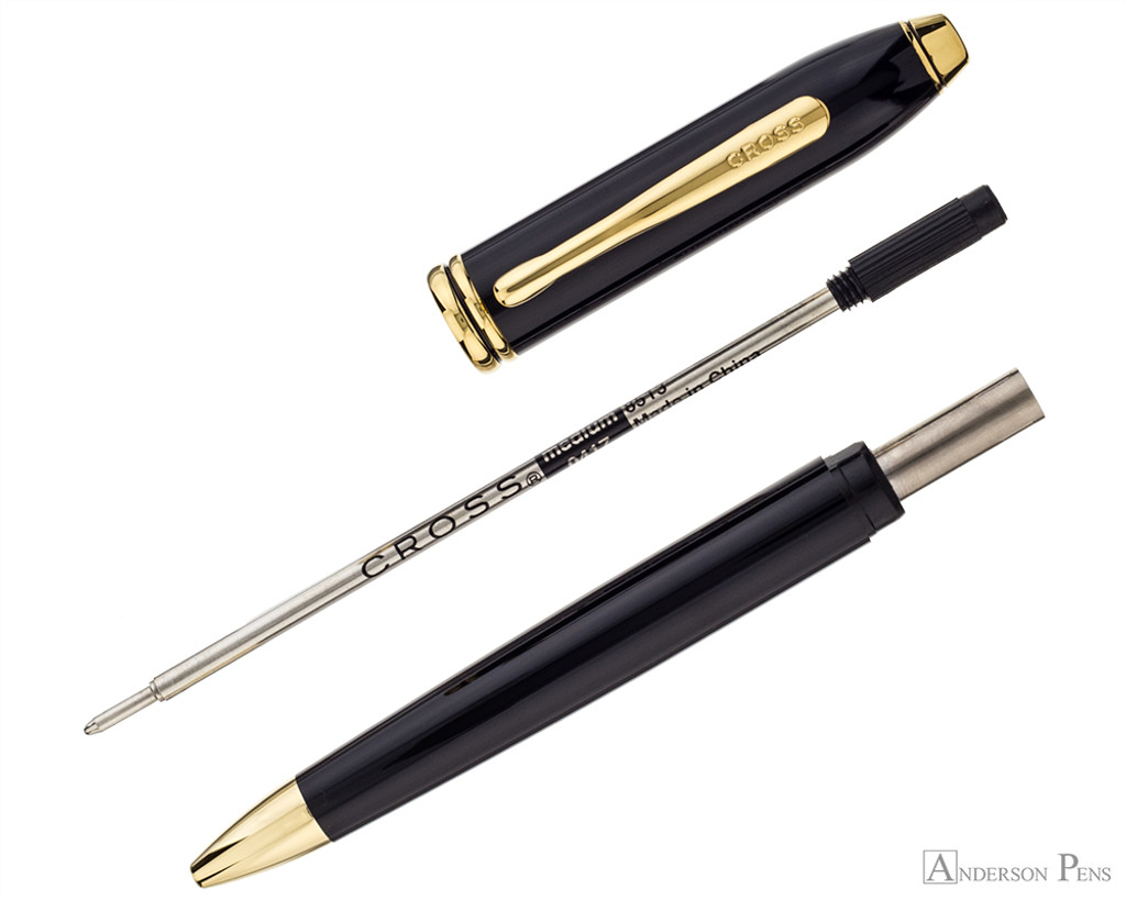 Cross Townsend Ballpoint - Polished Black Lacquer with Gold Trim - Parted Out