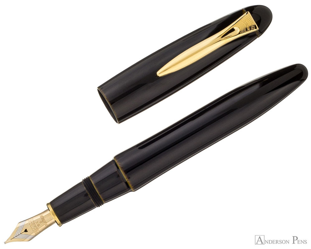 Platinum Izumo Fountain Pen - Biwatame Tan - Open