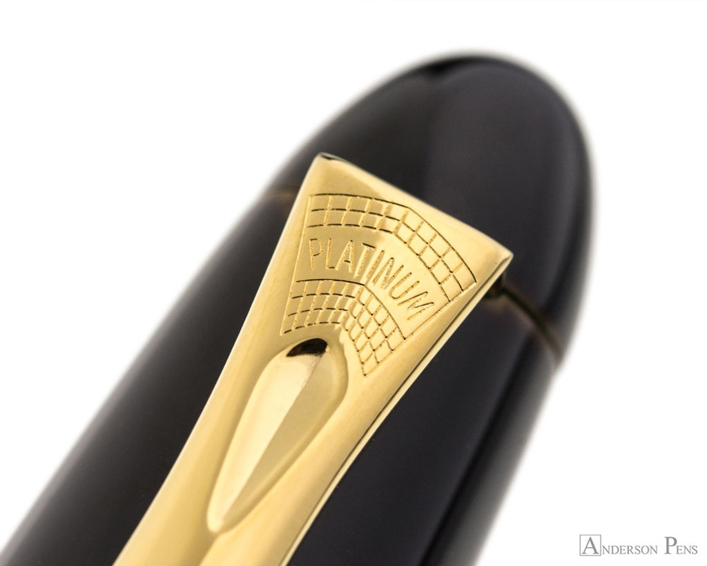 Platinum Izumo Fountain Pen - Biwatame Tan - Clip Imprint