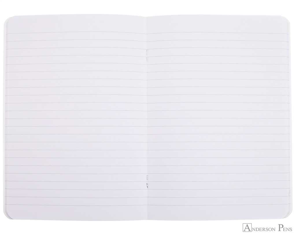 Rhodia Staplebound Notebook - A5, Lined - Ice White open