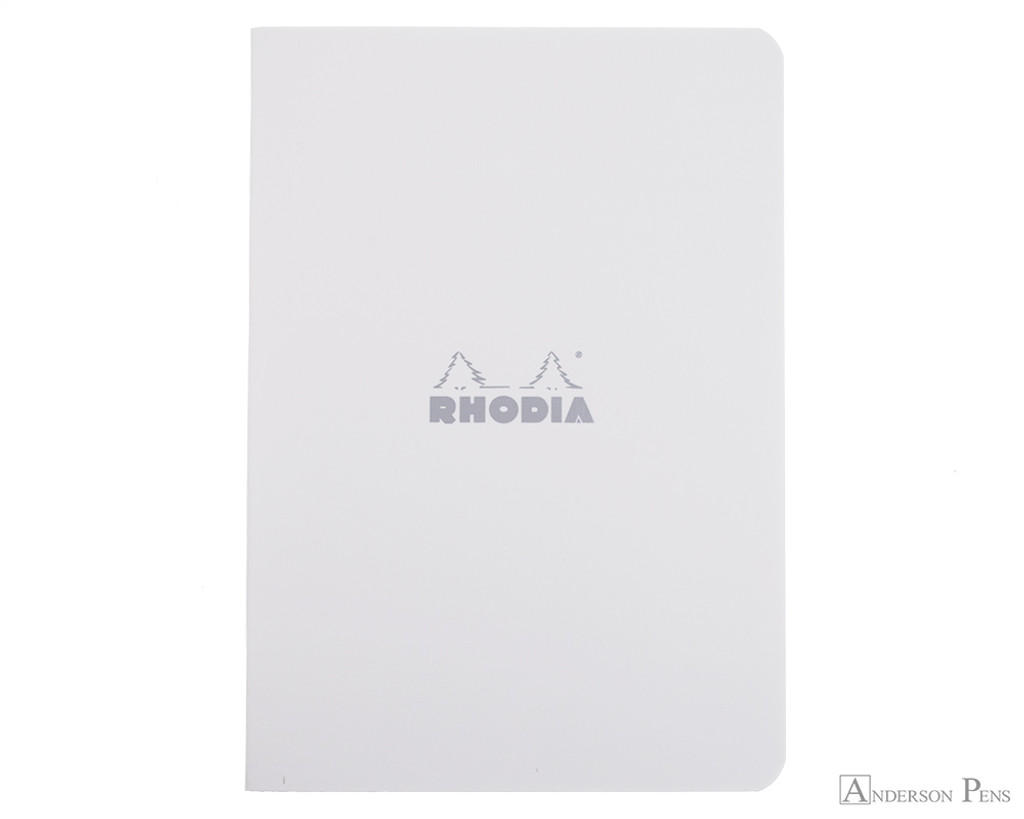Rhodia Staplebound Notebook - A5, Lined - Ice White