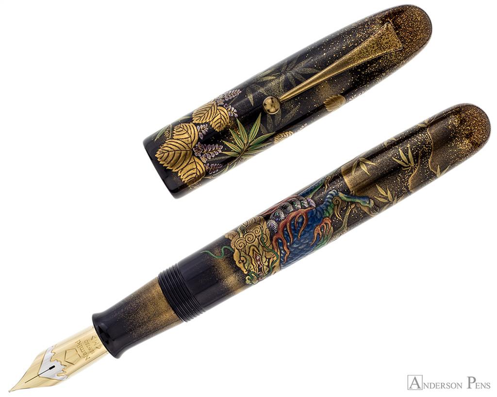 Namiki Emperor Maki-e Fountain Pen - Kylin - Open