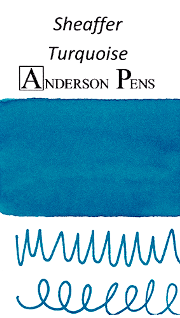 Sheaffer Turquoise Ink Color Swab