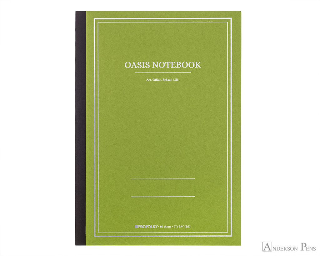 ProFolio Oasis Notebook - B5, Green