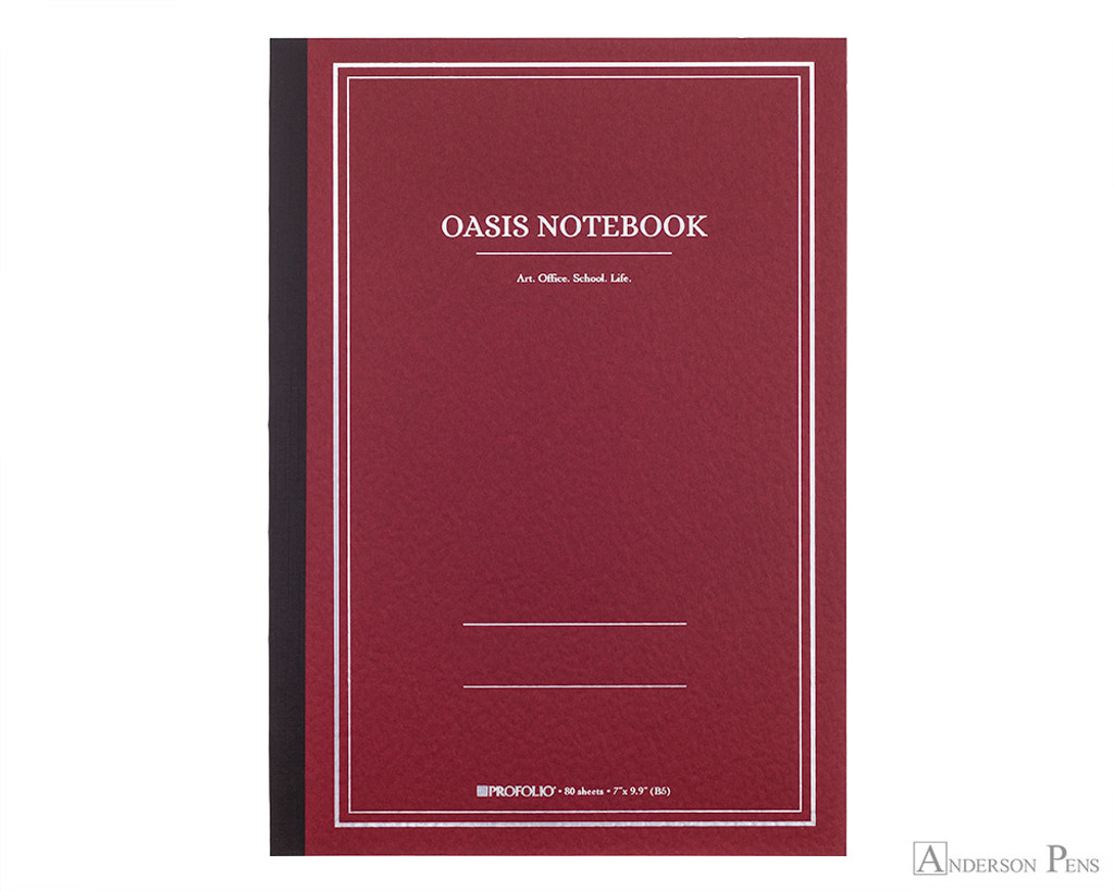 ProFolio Oasis Notebook - B5, Red