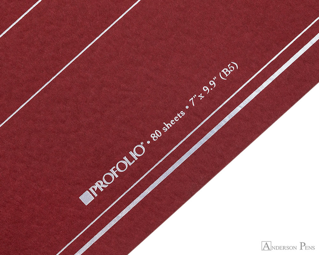 ProFolio Oasis Notebook - B5, Red - Logo