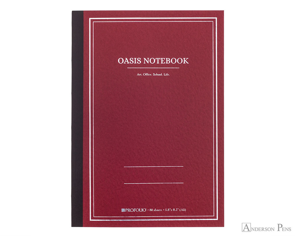 ProFolio Oasis Notebook - A5, Red
