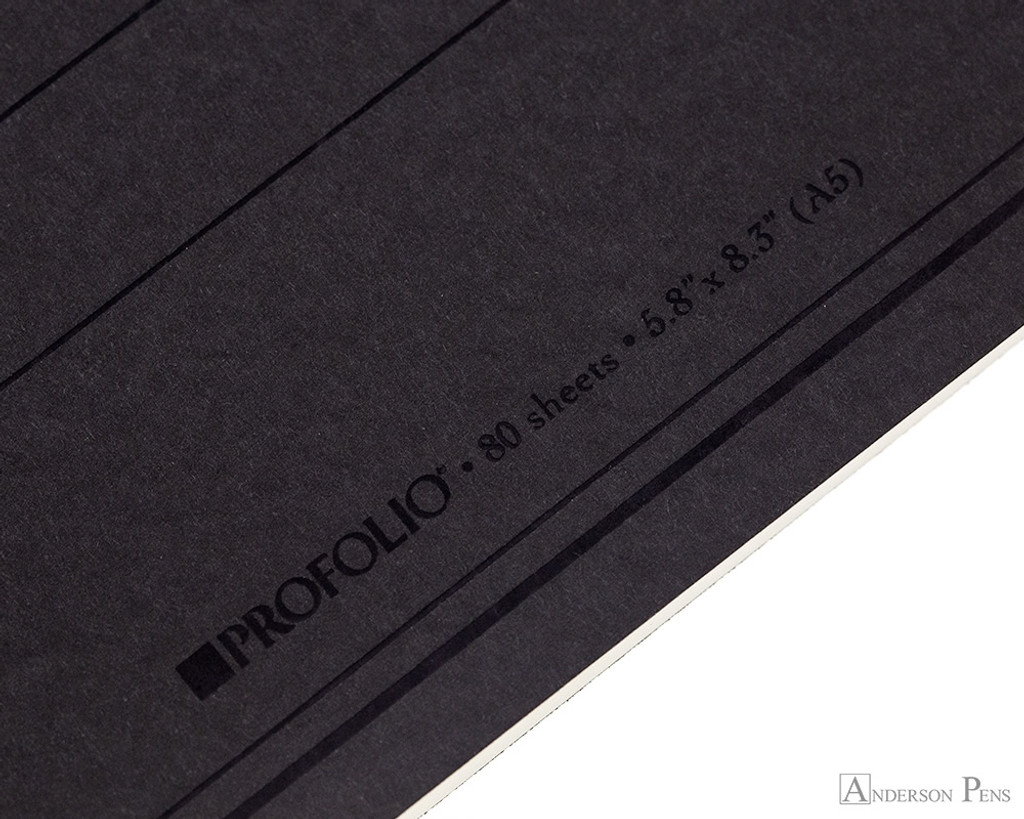 ProFolio Oasis Notebook - A5, Charcoal - Logo