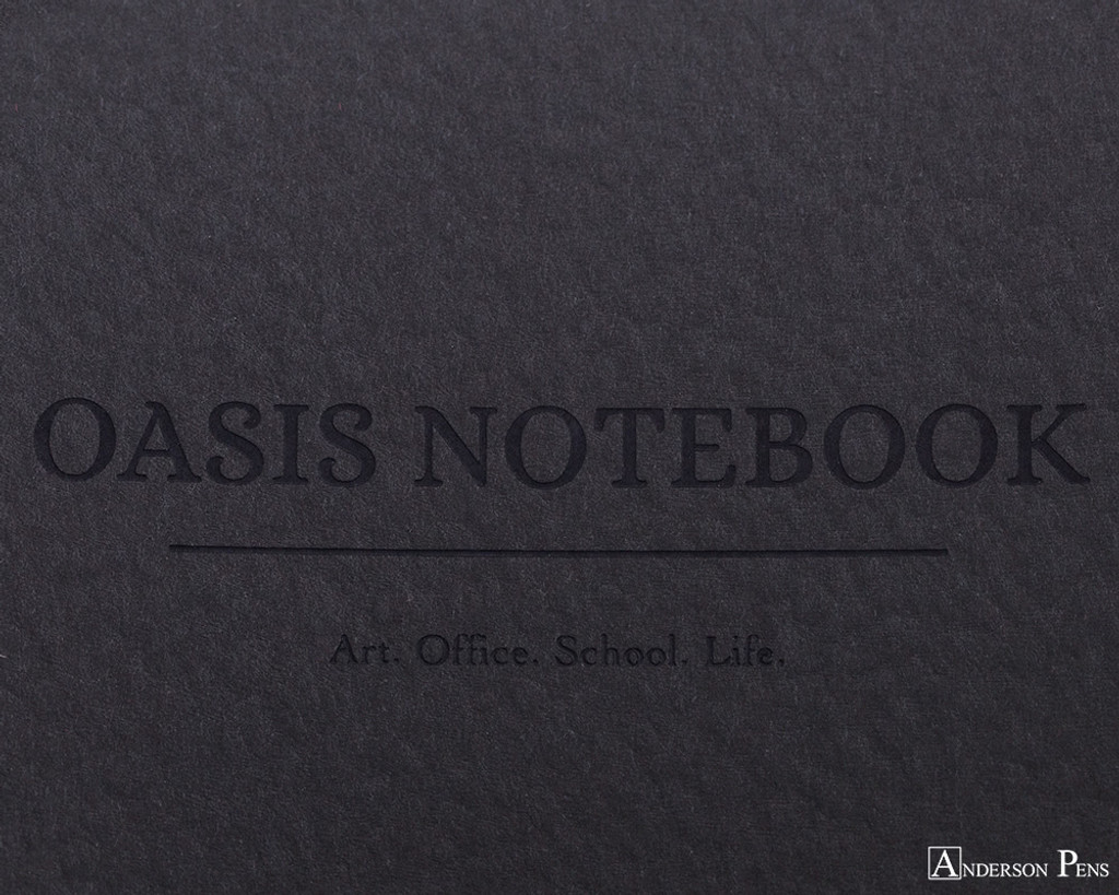 ProFolio Oasis Notebook - A5, Charcoal - Logo 2