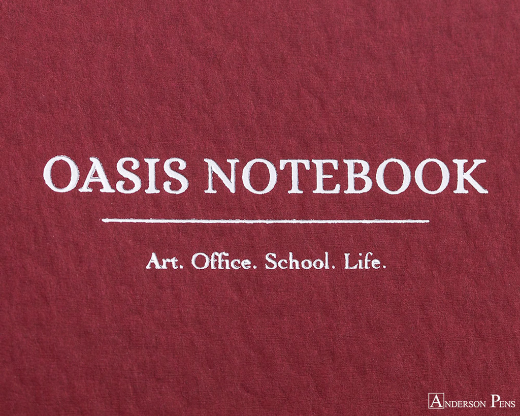 ProFolio Oasis Notebook - A6, Red - Logo 2