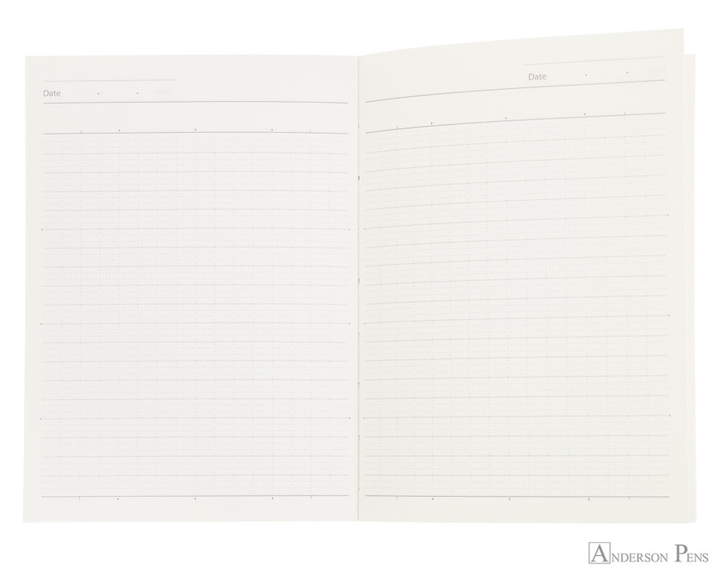 ProFolio Oasis Notebook - A6, Charcoal - Open