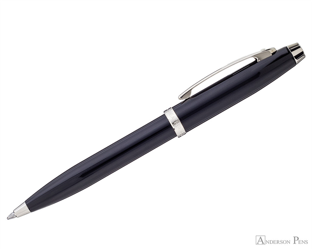Sheaffer 100 Ballpoint - Black with Nickel Trim - Profile