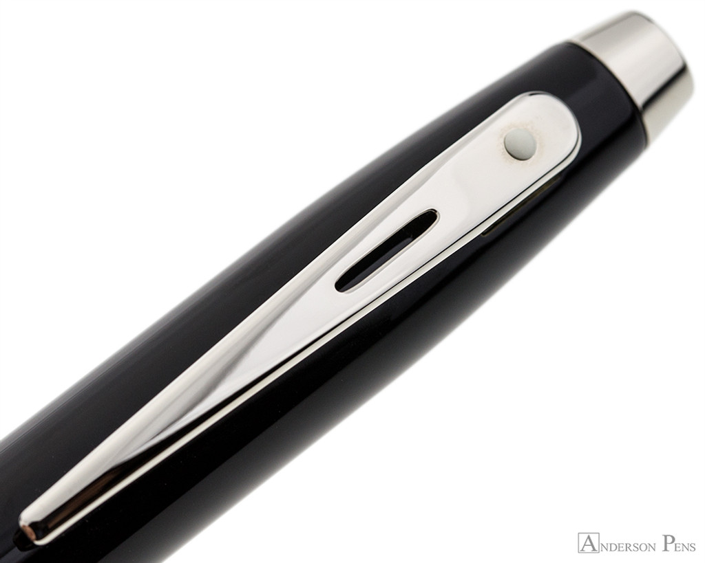 Sheaffer 100 Ballpoint - Black with Nickel Trim - Clip
