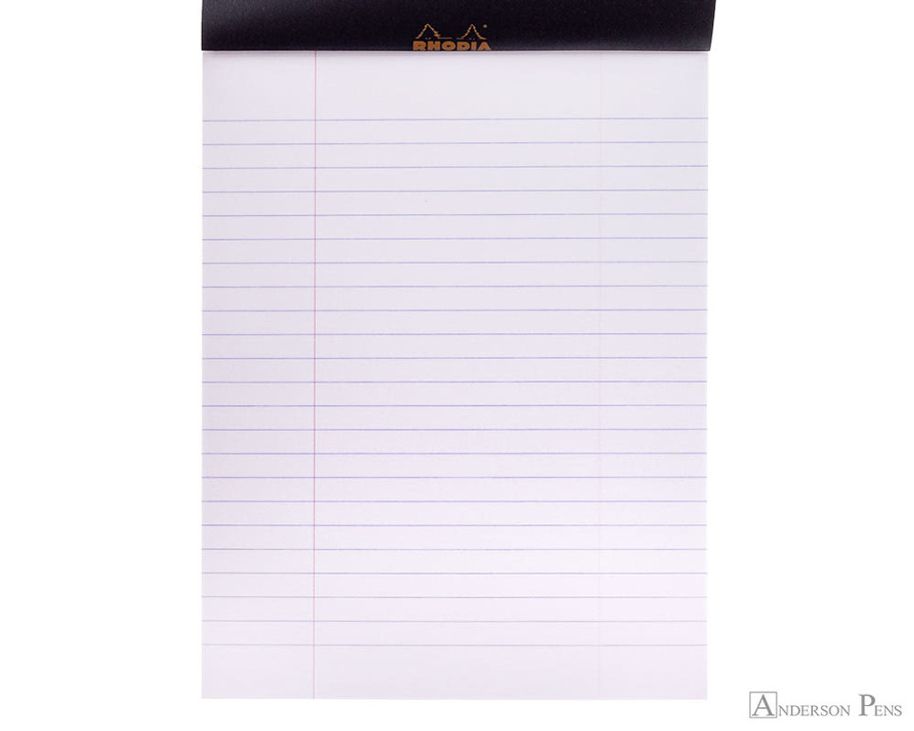 Rhodia No. 16 Staplebound Notepad - A5, Lined - Black open