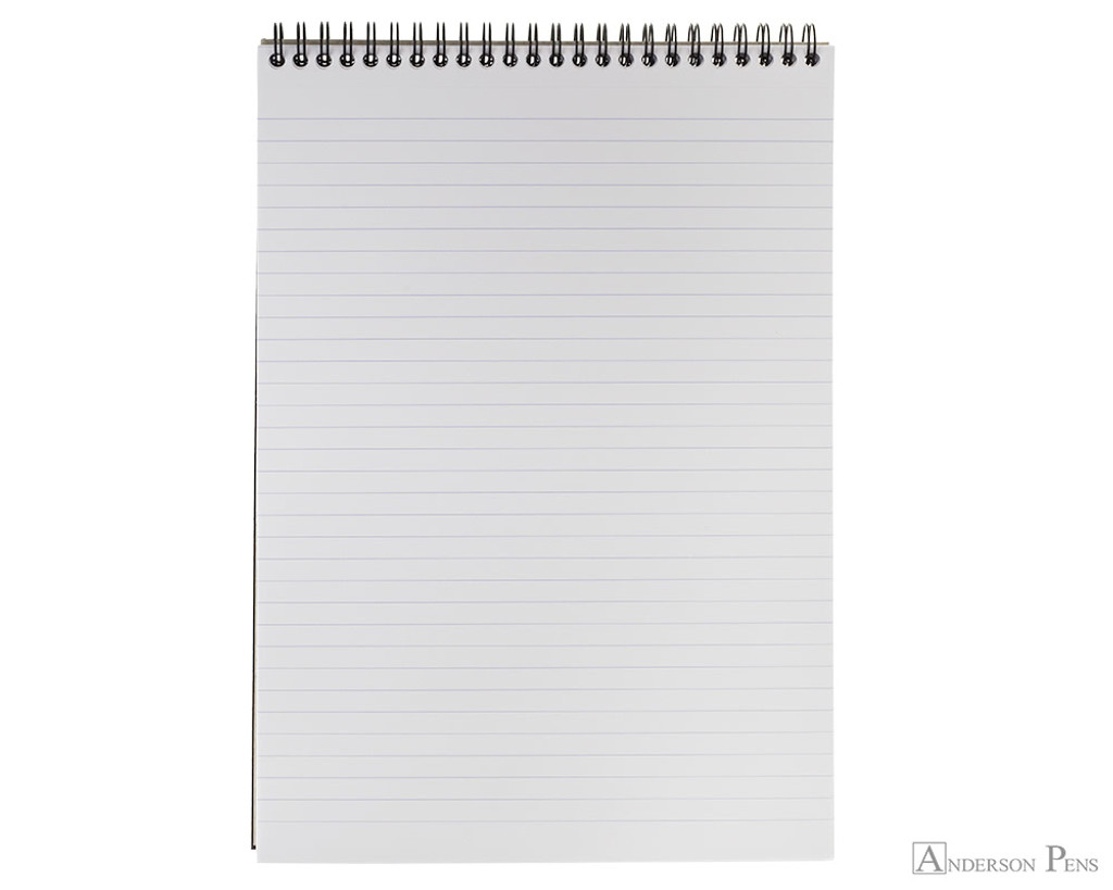 Rhodia No. 18 Wirebound Notepad - A4, Lined - Black open