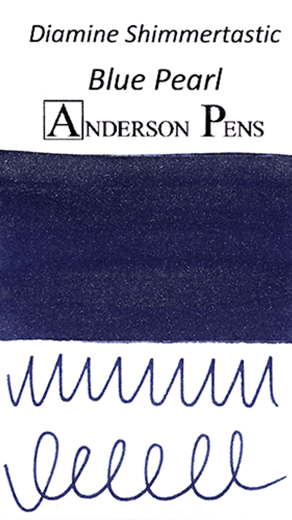 Diamine Shimmertastic Blue Pearl Ink Color Swab