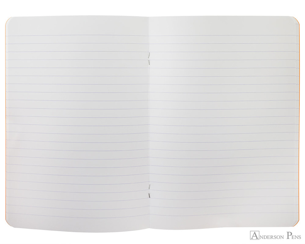 Rhodia Staplebound Notebook - A5, Lined - Orange open