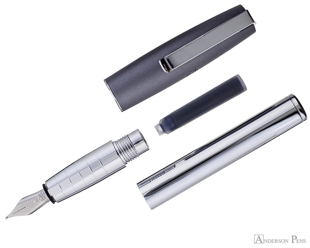 Faber-Castell Loom Metallic Grey Fountain Pen - Parted Out