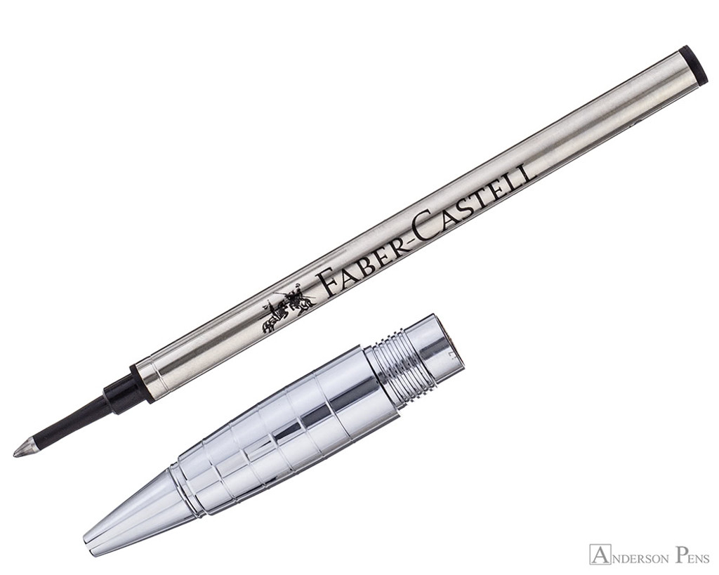 Faber-Castell Loom Rollerball - Metallic Grey - Section and Refill