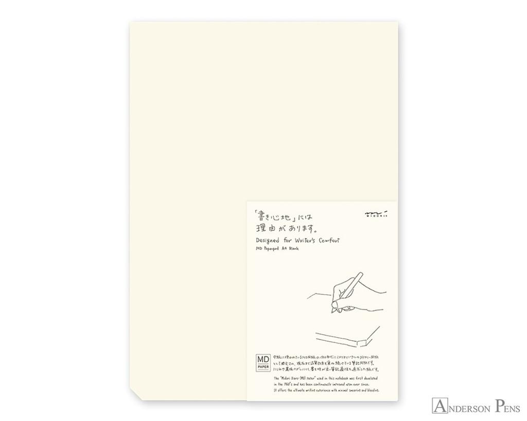Midori MD Paper Pad A4 - Cream, Blank