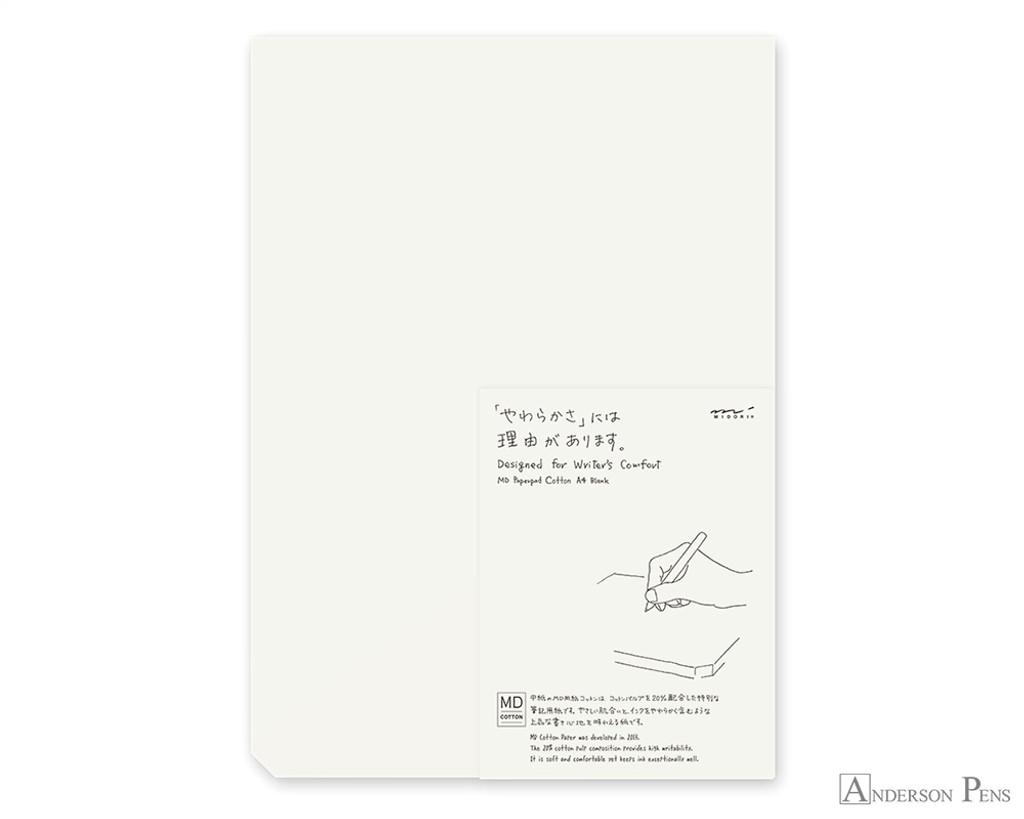 Midori MD Paper Pad A4 - Cotton, Blank