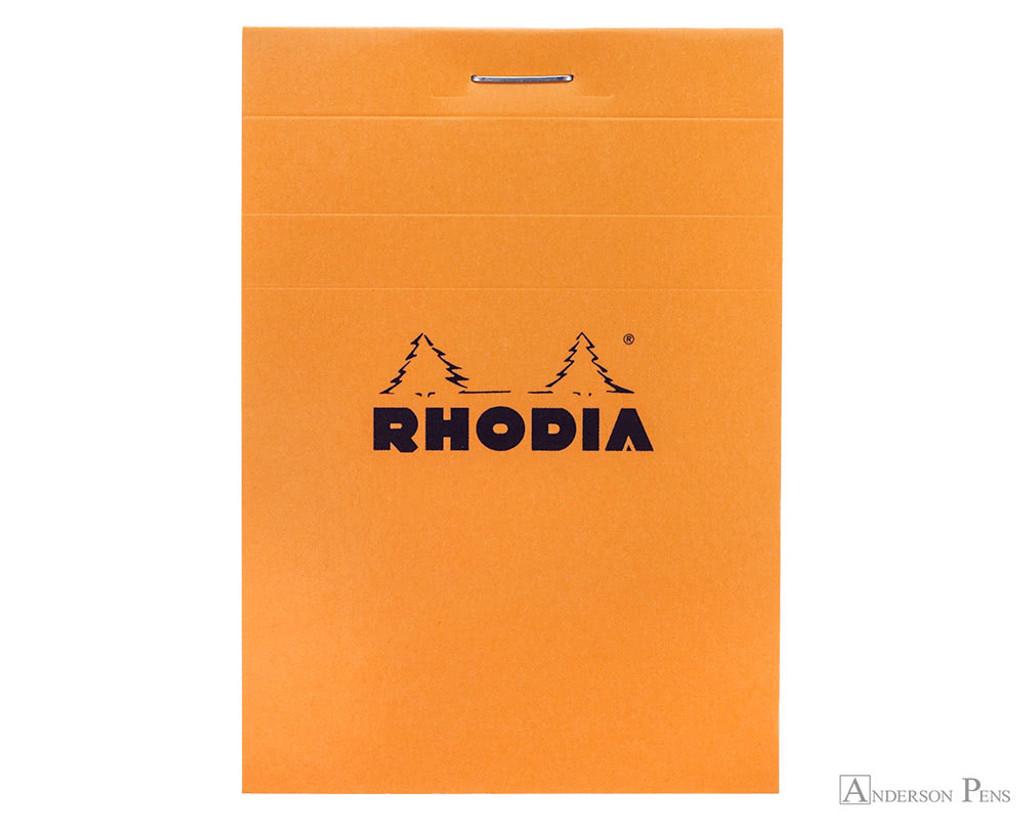 Rhodia No. 11 Staplebound Notepad - 3 x 4, Graph - Orange