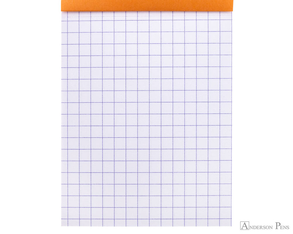 Rhodia No. 11 Staplebound Notepad - 3 x 4, Graph - Orange graph detail