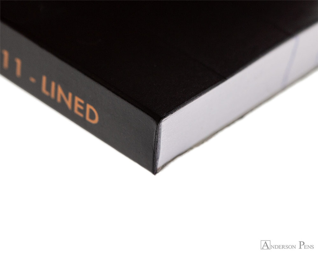 Rhodia No. 11 Staplebound Notepad - 3 x 4, Lined - Black binding
