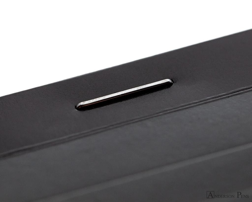 Rhodia No. 11 Staplebound Notepad - 3 x 4, Lined - Black binding detail
