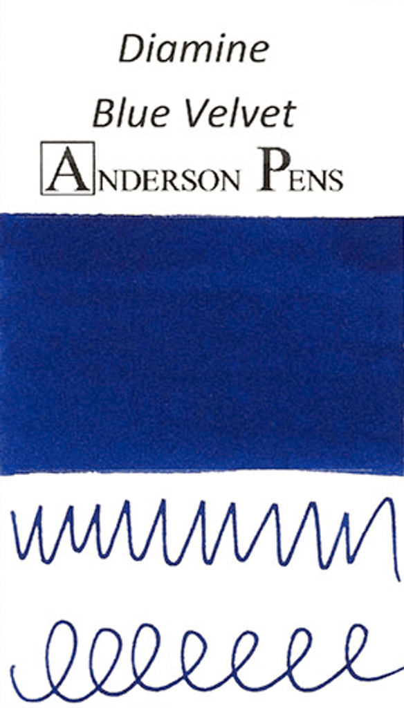 Diamine Blue Velvet Ink Color Swab