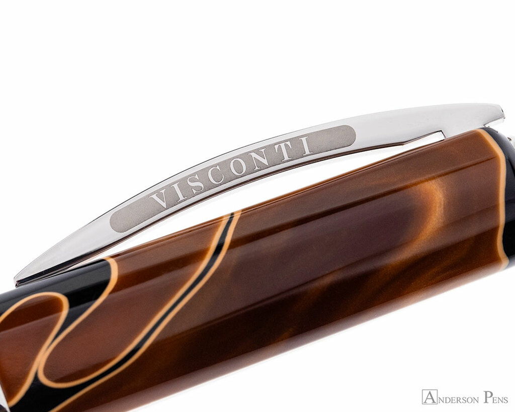 Visconti Vertigo Fountain Pen - Orange - Clip