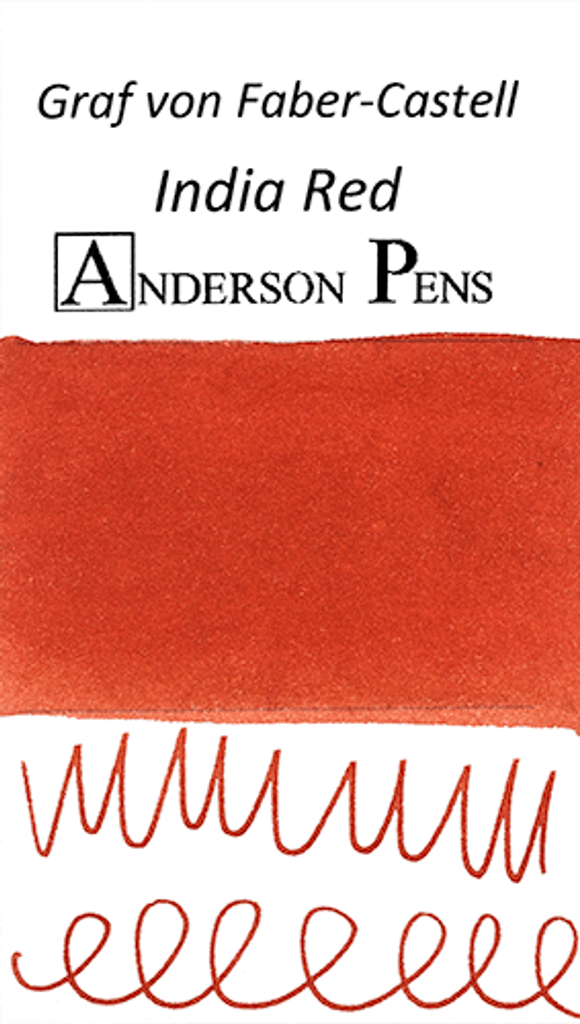 Graf von Faber-Castell India Red Ink Color Swab