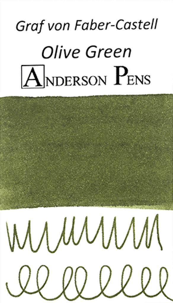 Graf von Faber-Castell Olive Green Ink Sample Color Swab