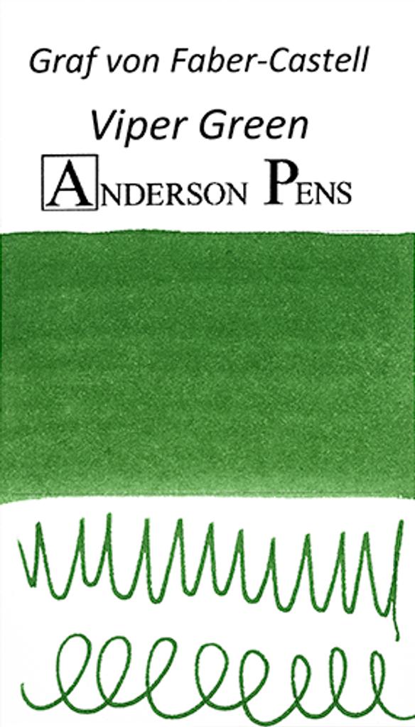 Graf von Faber-Castell Viper Green Ink Sample Color Swab