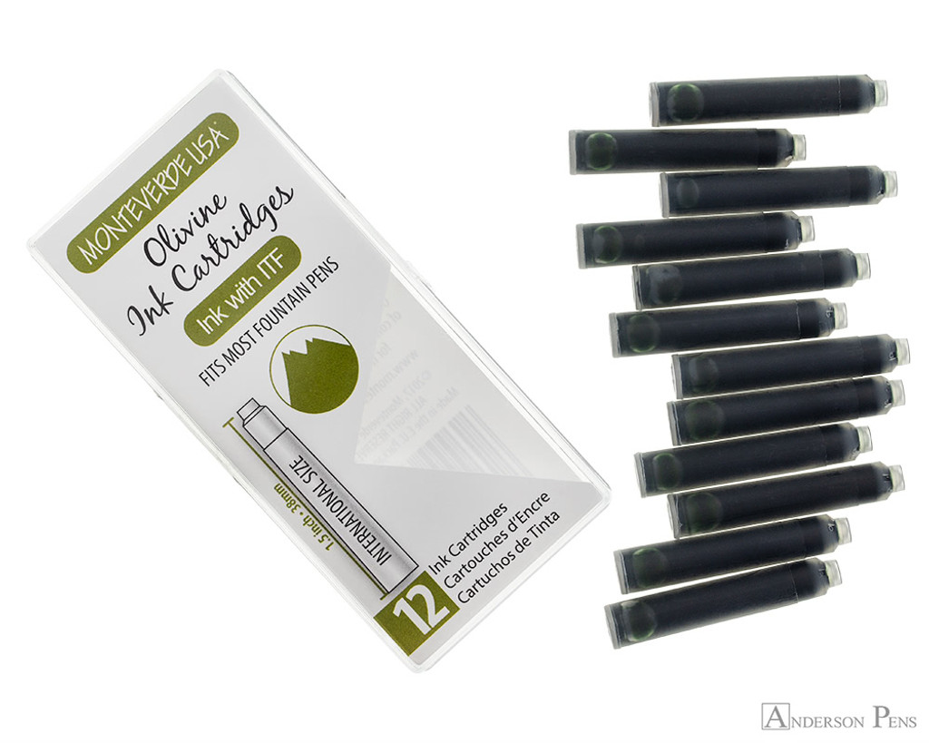 Monteverde Olivine Ink Cartridges (12 Pack)