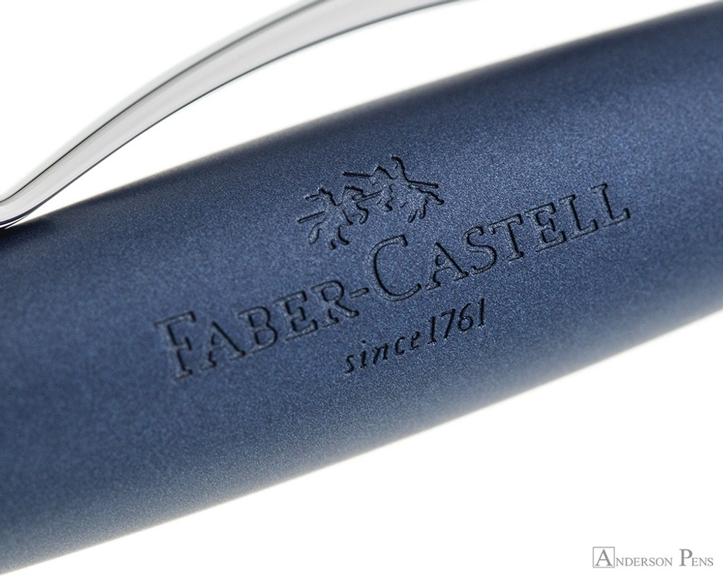 Faber-Castell Essentio Fountain Pen - Aluminum Blue - Imprint