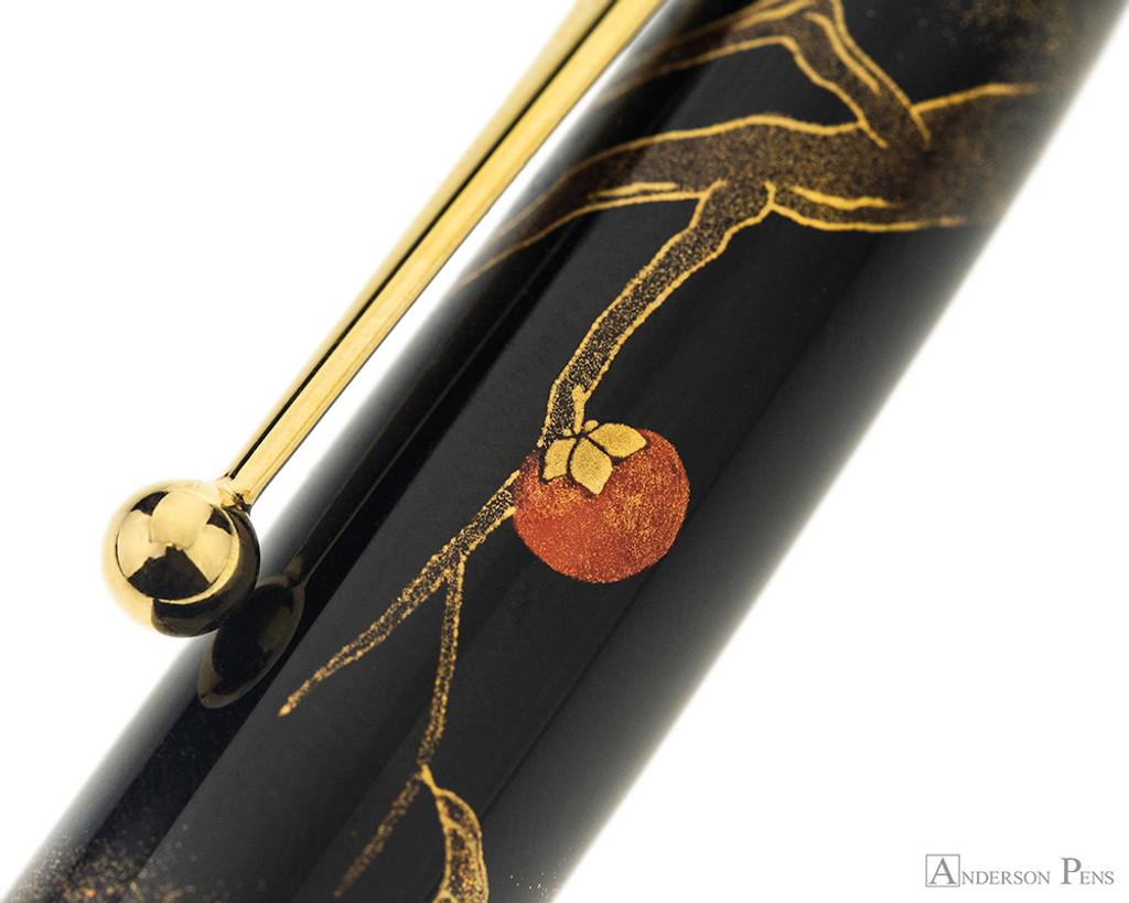 Namiki Yukari Maki-e Fountain Pen - Pigeon & Persimmon - Pattern 2