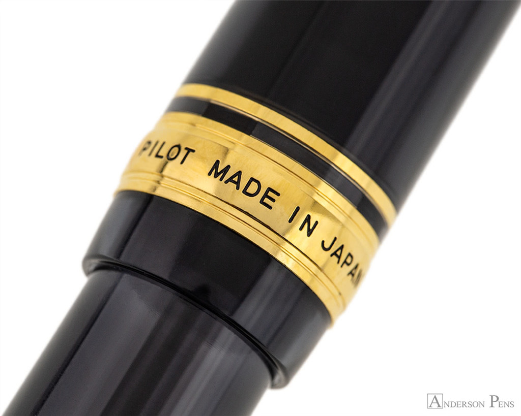 Pilot Custom 823 Fountain Pen - Smoke - Cap Band 2