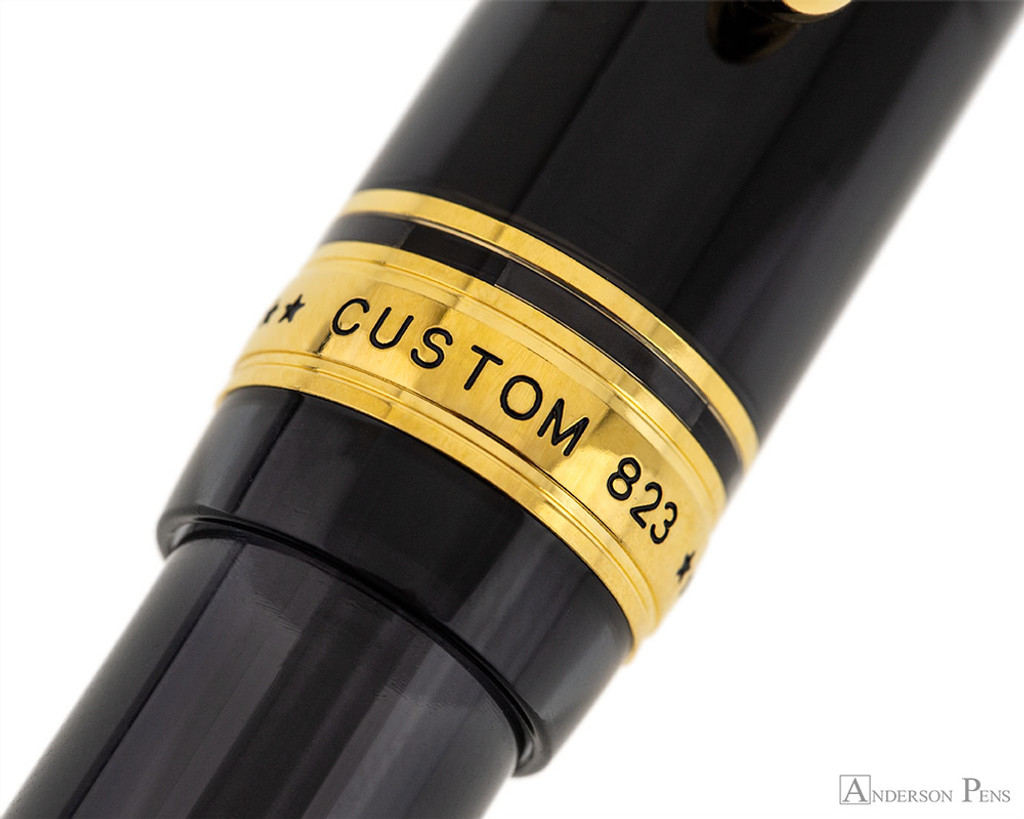 Pilot Custom 823 Fountain Pen - Smoke - Cap Band