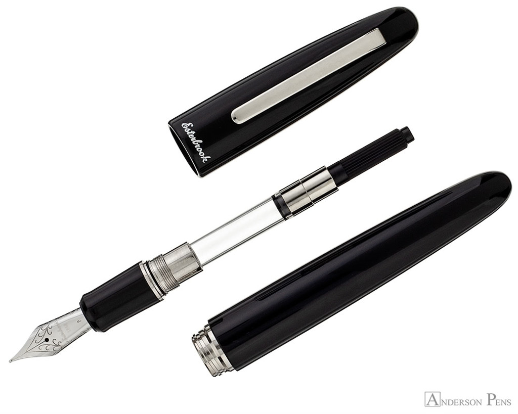 Esterbrook Estie Fountain Pen - Oversized Ebony with Palladium Trim