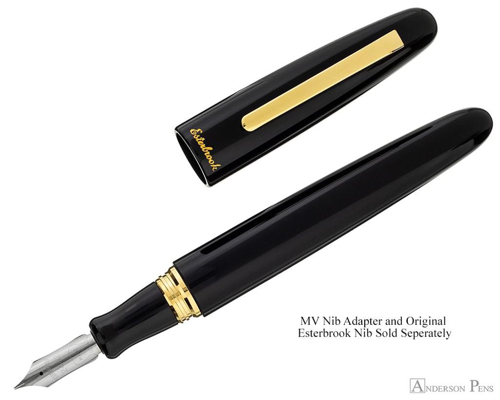 Esterbrook Estie Fountain Pen - Oversized Ebony with Gold Trim