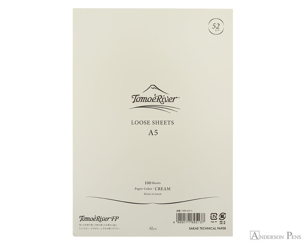 Tomoe River Loose Sheets - A5, Blank - Cream