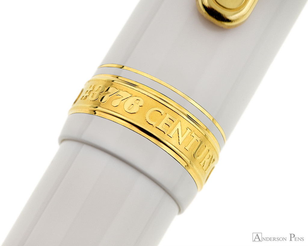 Platinum 3776 Century Fountain Pen - Chenonceau White - Cap Band