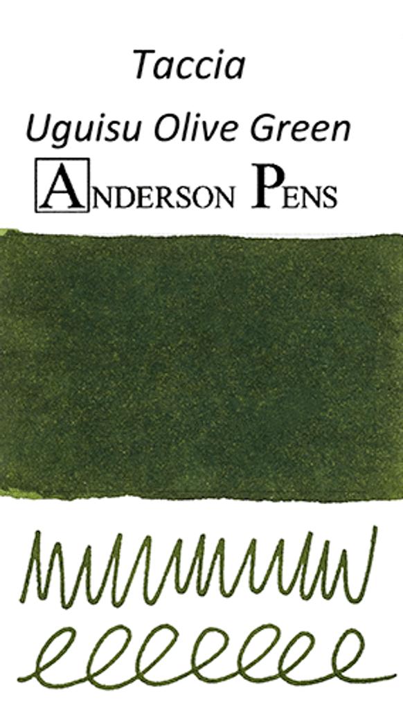 Taccia Uguisu Olive Green Ink Sample (3ml Vial)