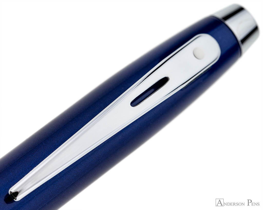 Sheaffer 100 Rollerball - Blue Lacquer with Chrome Trim