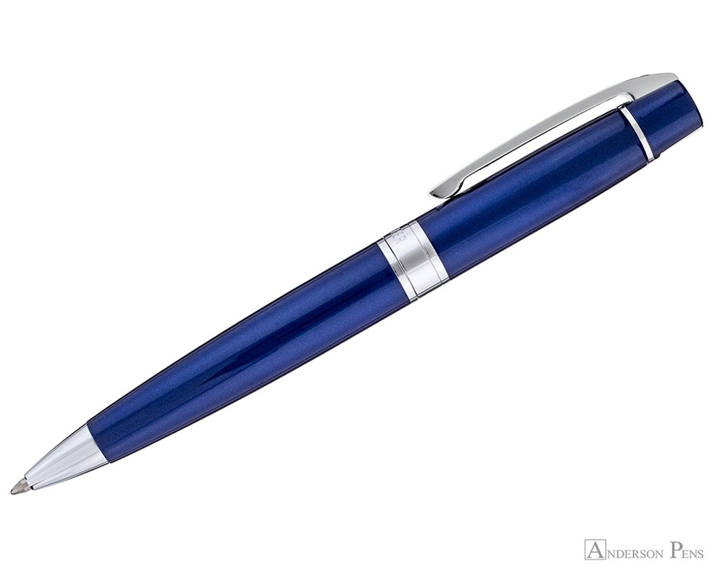Sheaffer 300 Ballpoint - Glossy Blue Lacquer with Chrome Trim - Profile